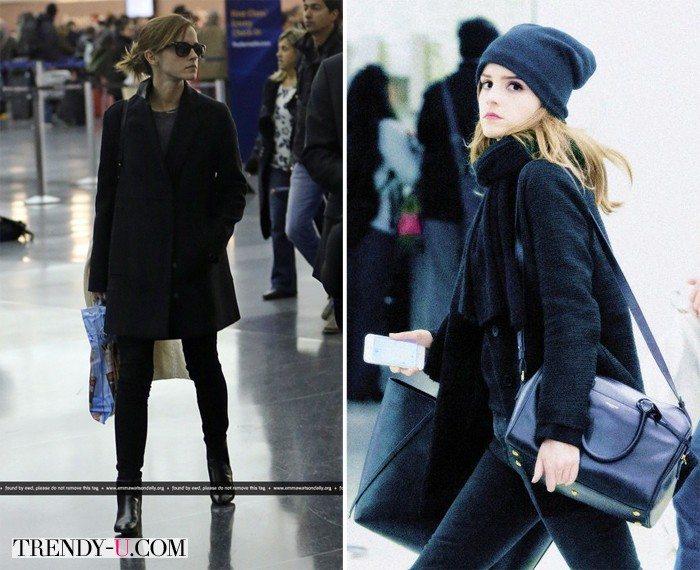 Emma Watson в аэропорту