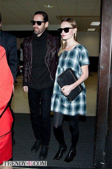 Kate Bosworth с мужем в аэропорту