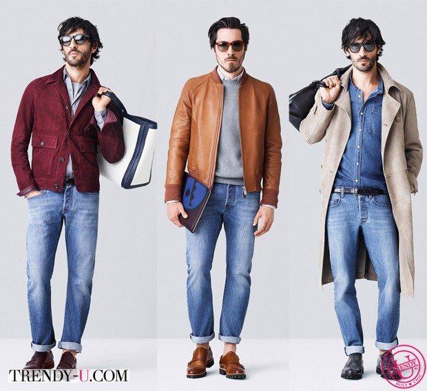 Мужские луки с джинсами от Bally весна-лето 2015