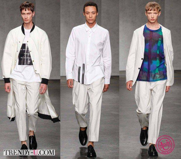 Модная мужская одежда белого цвета весна-лето 2015 от Casely-Hayford