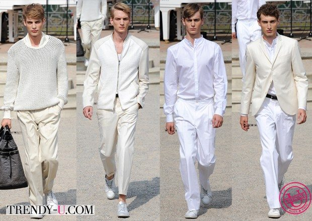 Модные тенденции весны и лета 2015: белые одежды от Corneliani