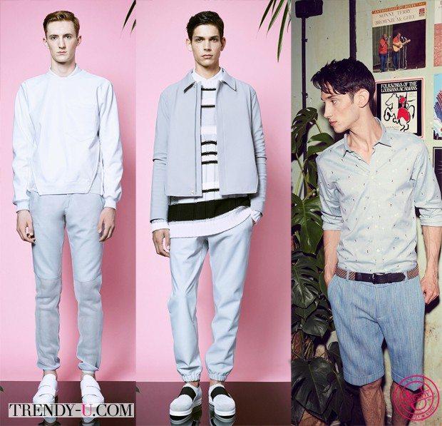 Модная мужская одежда цвета аквамарин для весны и лета 2015