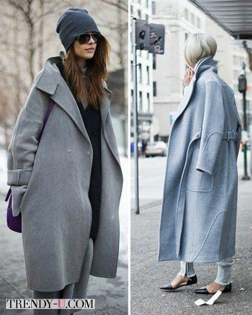 Стильные девушки в пальто-коконах