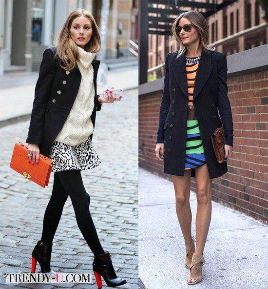 Образы с черным демисезонным пальто