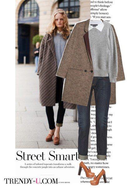 Еще лук с пальто-коконом