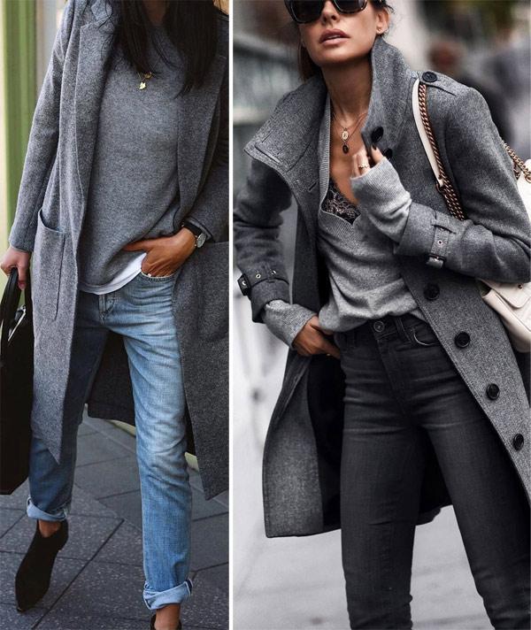 Серое пальто: образы