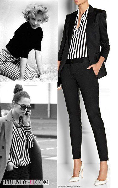 Вертикальные полосы на одежде