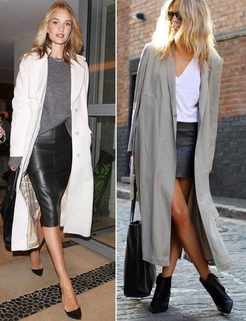 Кожаные юбки на девушках