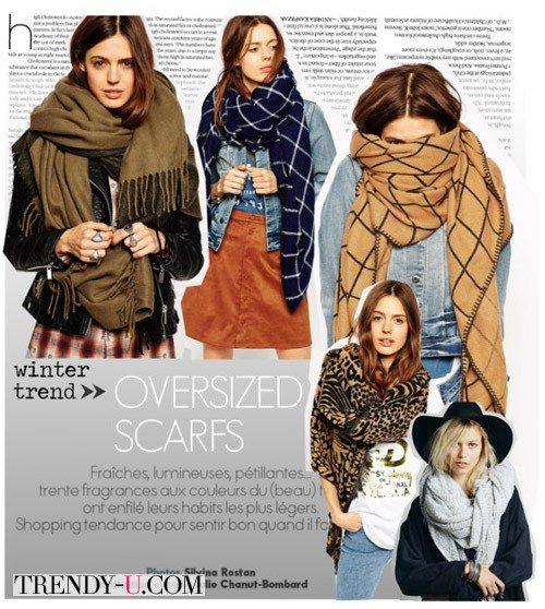 Стильный луки с шарфом
