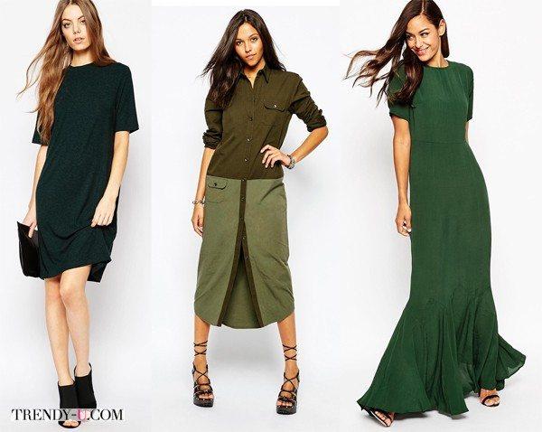 Платья зеленого цвета в интернет-магазине