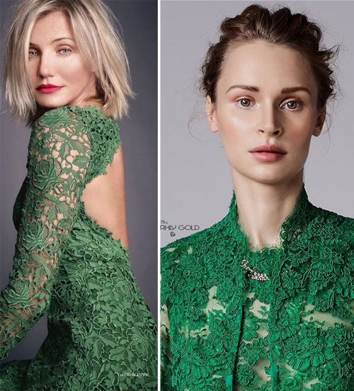 Макияж к зеленому платью
