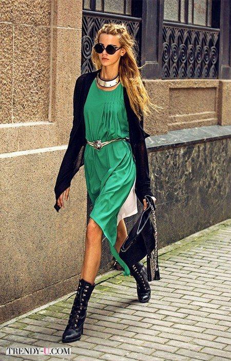 Зеленый и черный