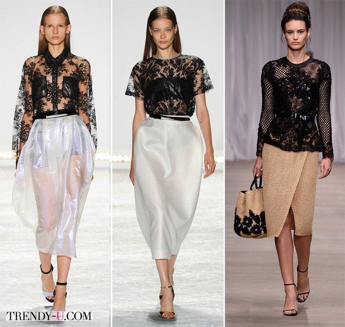 Модные кружевные блузки от Monique Lhuillier и Ermano Scervino SS 2015