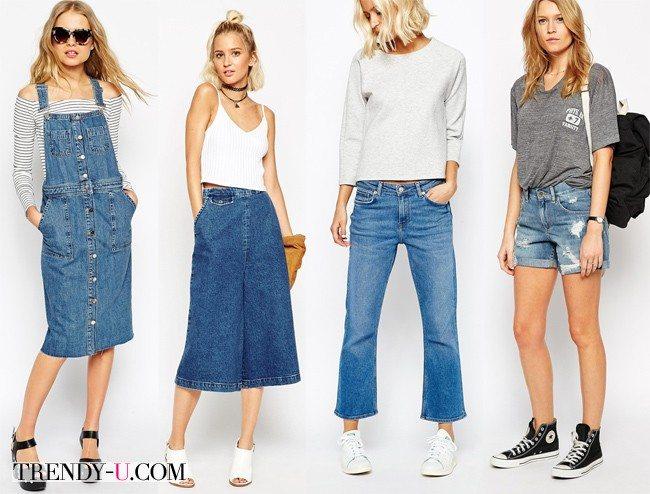 Одежда из денима для яркого лета 2015 - это must!
