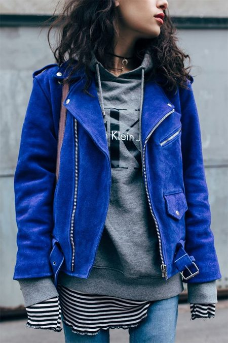 Замшевая куртка - многослойный образ