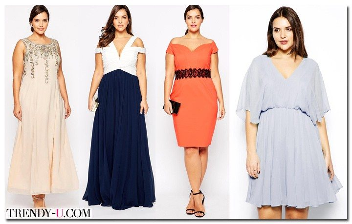 Вечерние и коктейльные платья для полных модных в 2015 году цветов из магазина АСОС