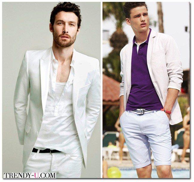 Модная мужская одежда для лета 2015 белого цвета