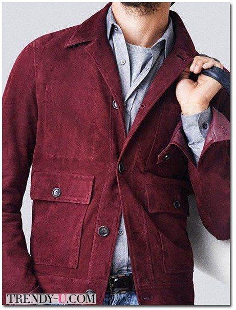 Замшевая куртка цвета Марсала весна-лето и даже осень 2015