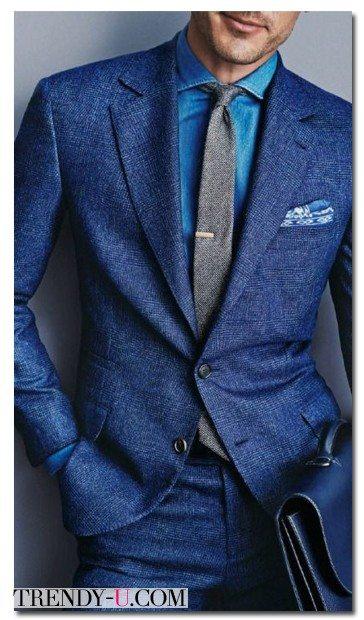 Мужской стильный джинсовый костюм 2015