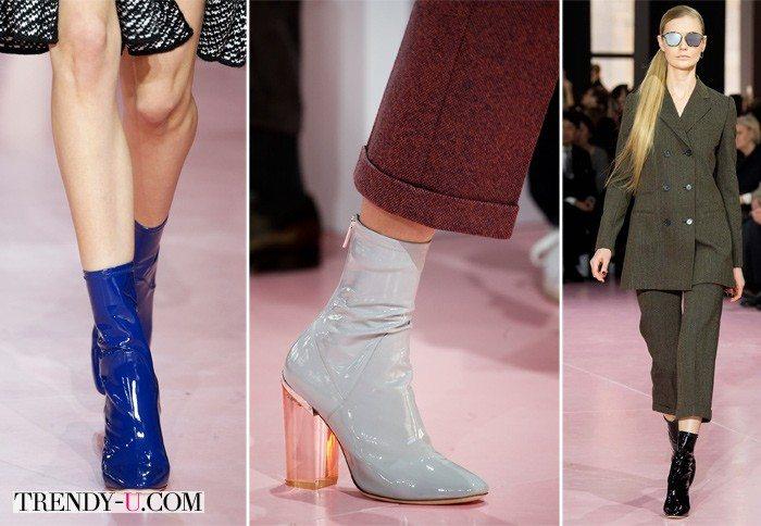 Лаковые ботильоны от Dior 2015-2016: просто и изысканно