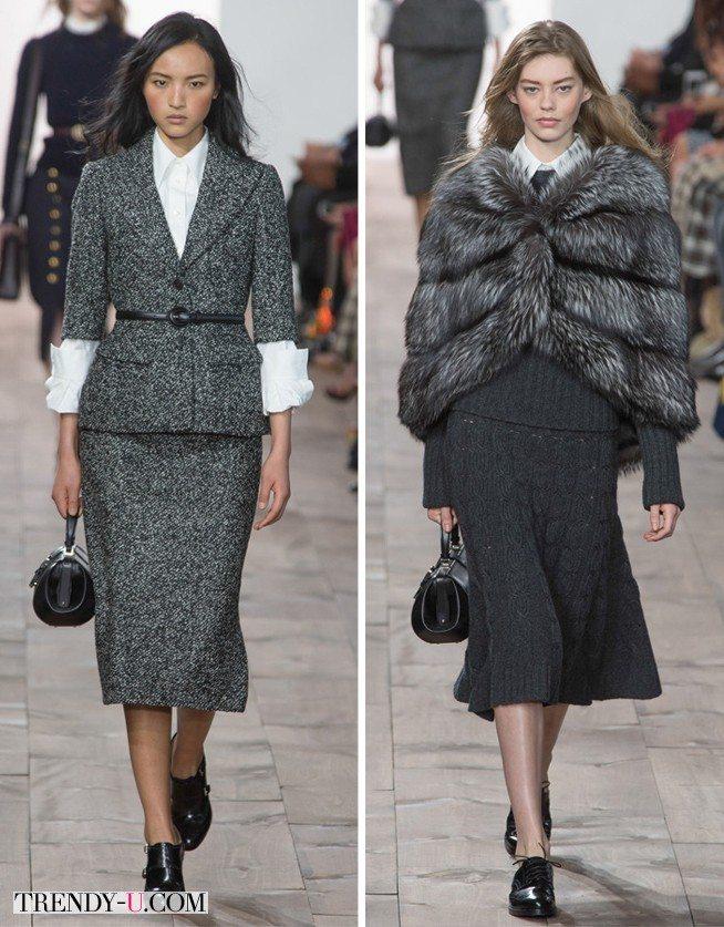 Модная одежда серого цвета Michael Kors FW 2015-2016