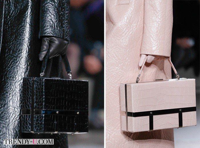 Стильные сумки прямоугольной формы Alexander McQueen FW 2015