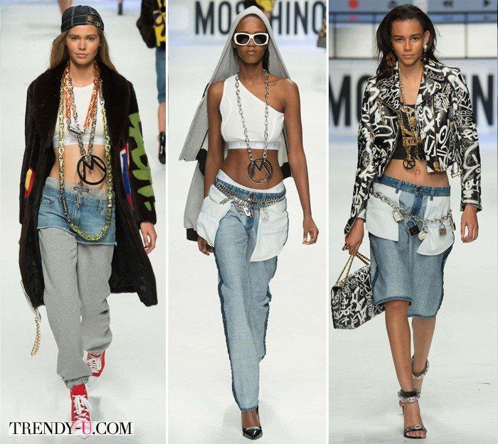 Модные тенденции осень-зима 2015-2016: джинсовая одежда от Moschino