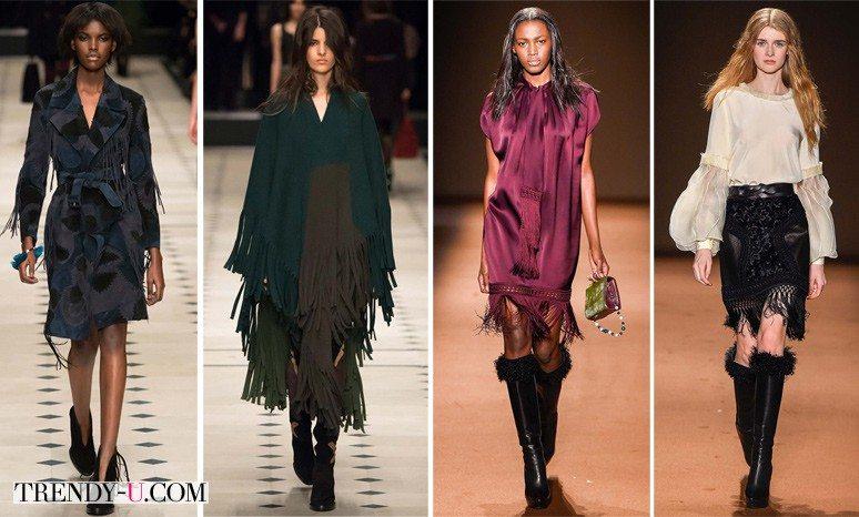 Модная одежда осень-зима 2015-2016 с лапшой от Burberry Prorsum и Andre Gn