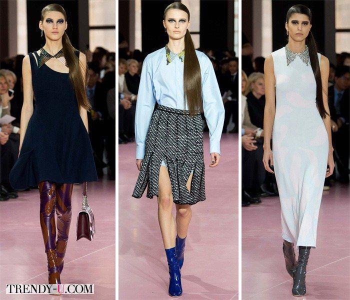 Модные тенденции осень-зима 2015-2016: остроугольные воротники из коллекции Christian Dior