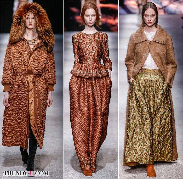 Юбки и пальто из жаклина Alberta Ferretti осень-зима 2015-2016