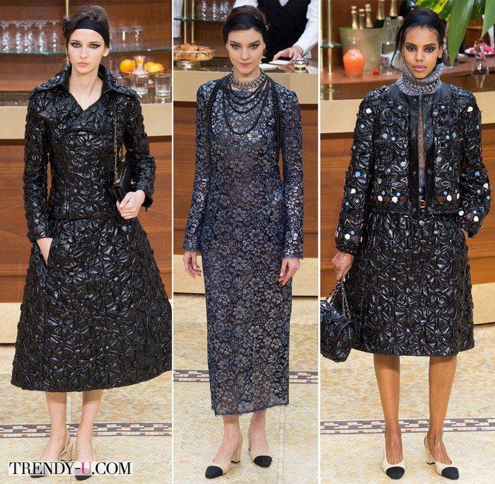 Модные тенденции осень-зима 2015-2016: одежда из ткани жаклин от Chanel