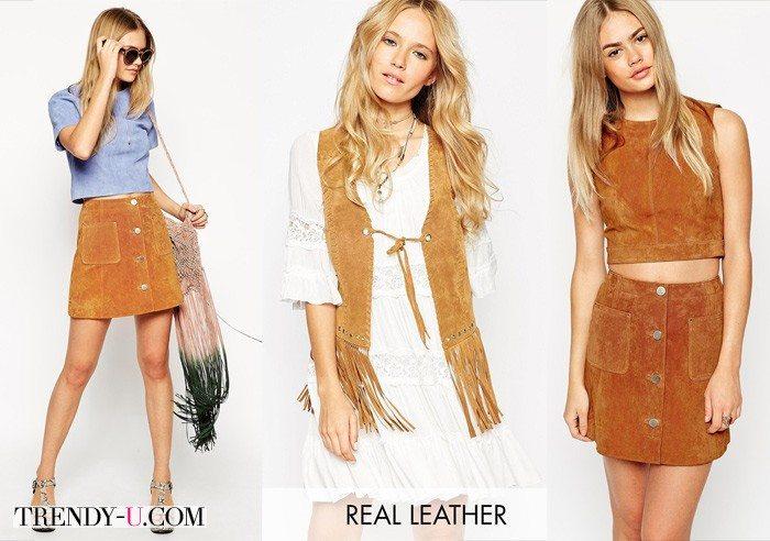 Одежда из замши для модных и эффектных образов