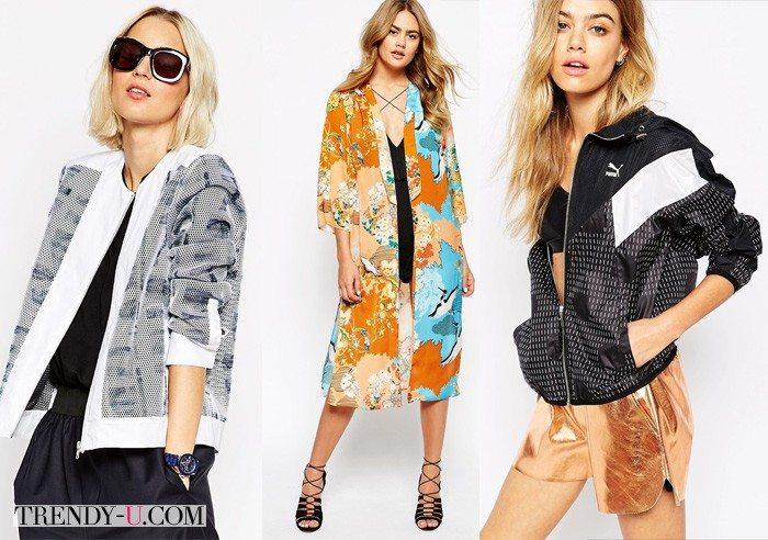 Ветровки и плащи-кимоно из интернет-магазина ASOS