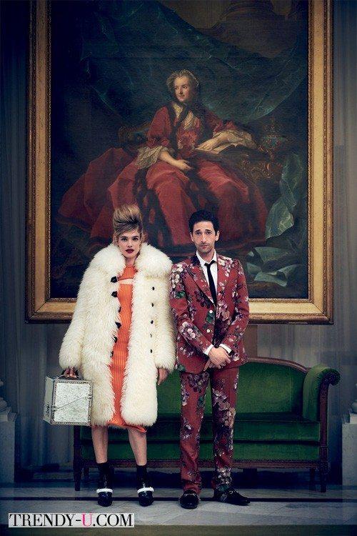Наталья Водянова и Эндриен Брауни в рекламной кампании модной одежды осень-зима 2015-2016