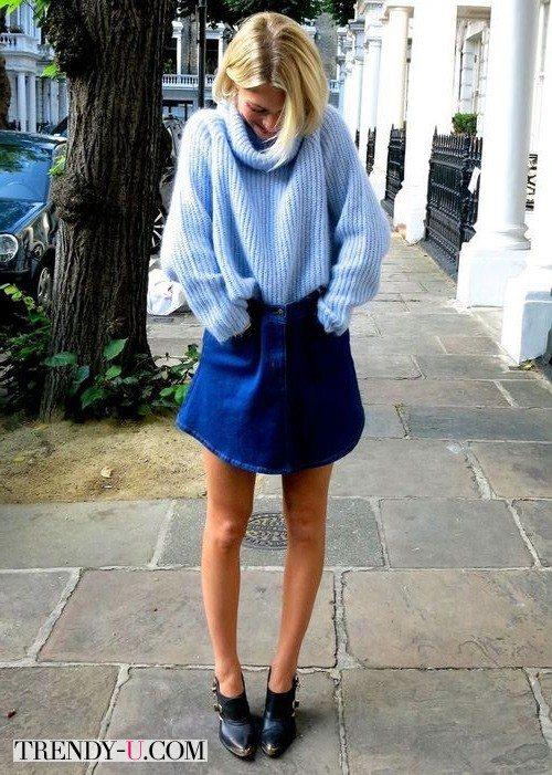 Такая длина юбки вполне допустима