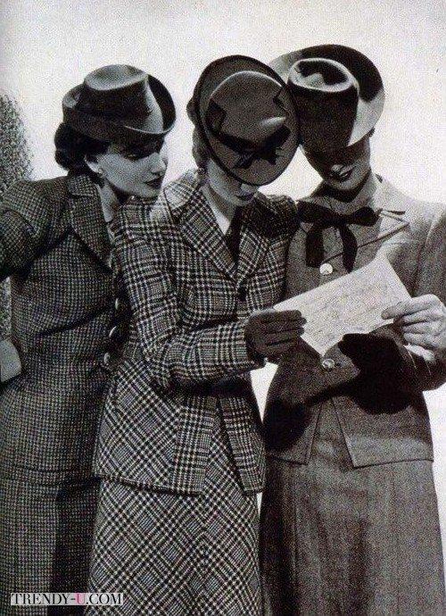 Стиль ретро 40-х: повседневные костюмы