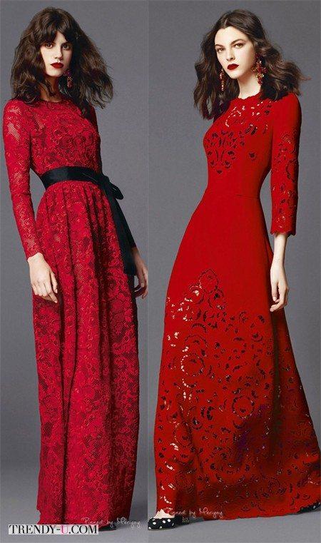Красные платья от Dolche & Gabanna