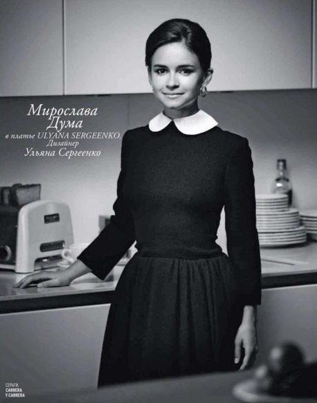 Мирослава Дума в платье в стиле ретро 40-х от Ульяны Сергеенко