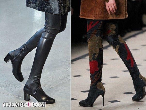 Сапоги-чулки Calvin Klein Collection & Burberry осень-зима 2015-2016