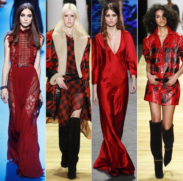 Платья красного цвета сезона осень-зима 2016-2017