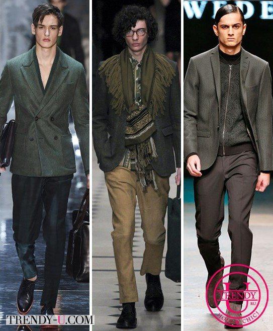 Мужские блейзеры в сочетании с брюками Berluti, Burberry Prorsum, Tiger of Sweden для осени и зимы