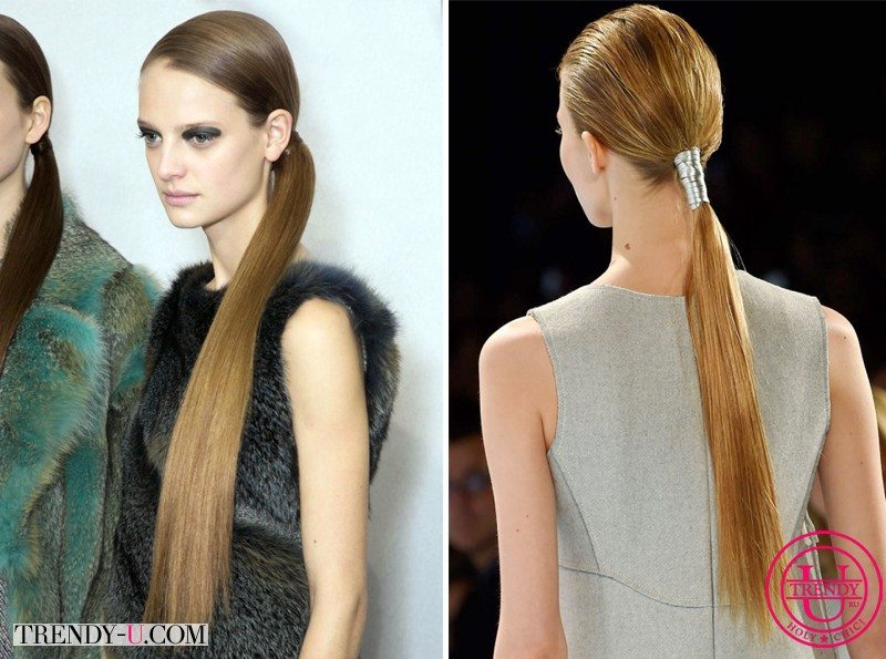 Конский хвост для моделей Christian Dior и Carolina Herrera FW 2015-2016