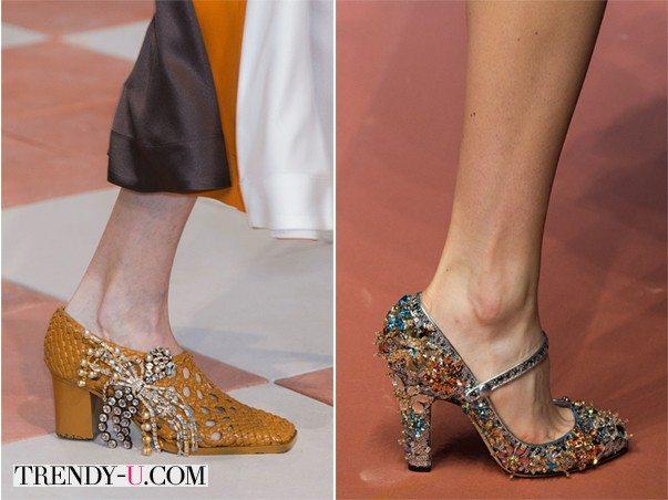 Модные туфли для осени 2015 от Céline и Dolce & Gabbana