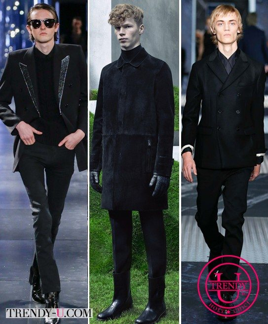 Модная мужская одежда черного цвета для осени и зимы 2015-2016