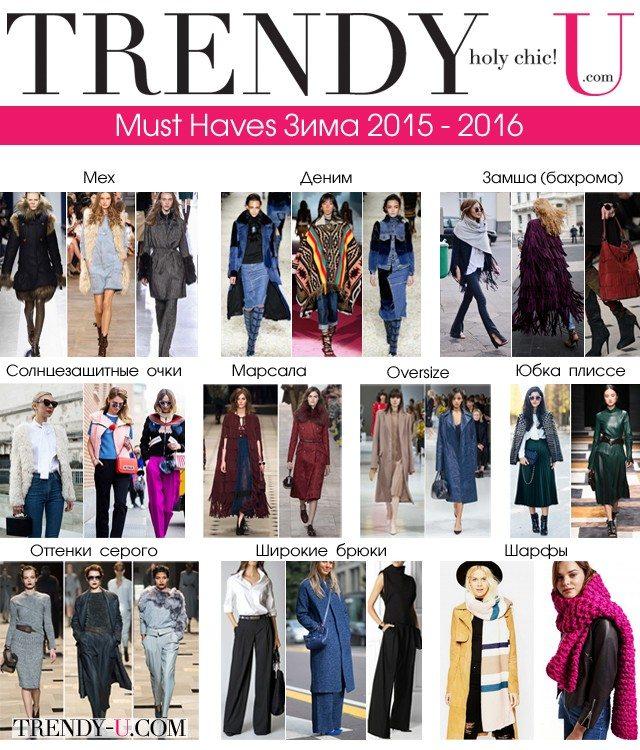 Must Haves зимнего гардероба 2015-2016