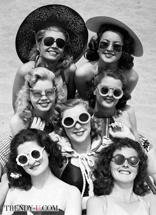 Девушки в солнцезащитных очках, 40-е годы