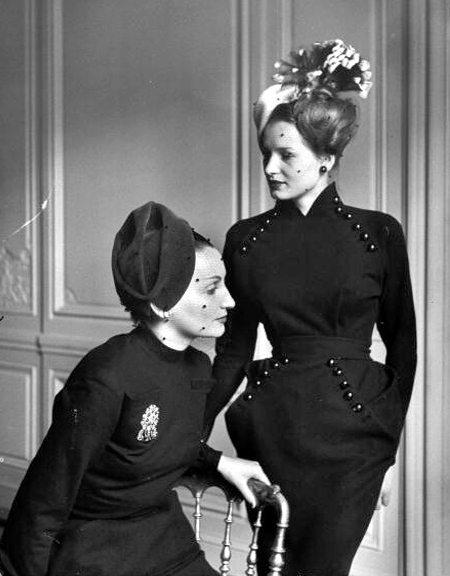 Одежда в стиле ретро конца 40-х годов от Christian Dior