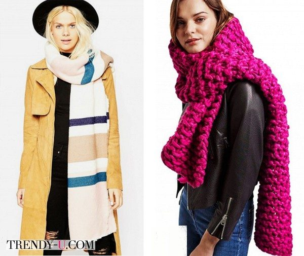 Шарф осенью и зимой 2015 - очень нужный и модный аксессуар