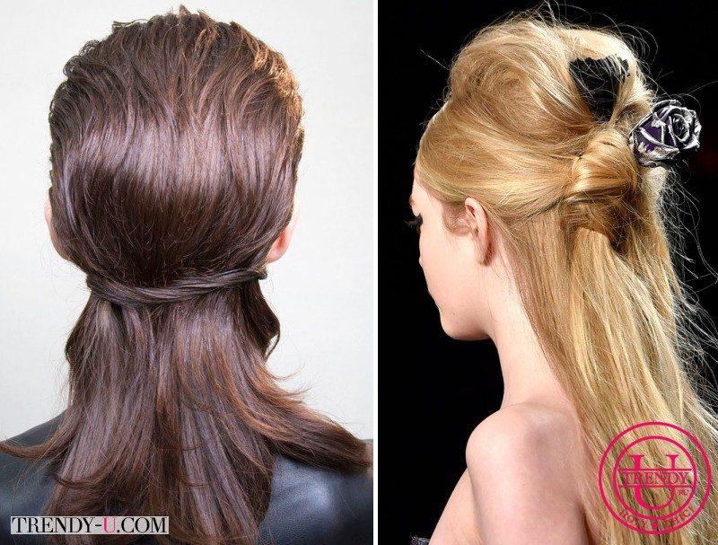 Модные прически на длинные волосы для вечерних выходов от Badgley Mischka и Gay Laroche осень-зима 2015-2016