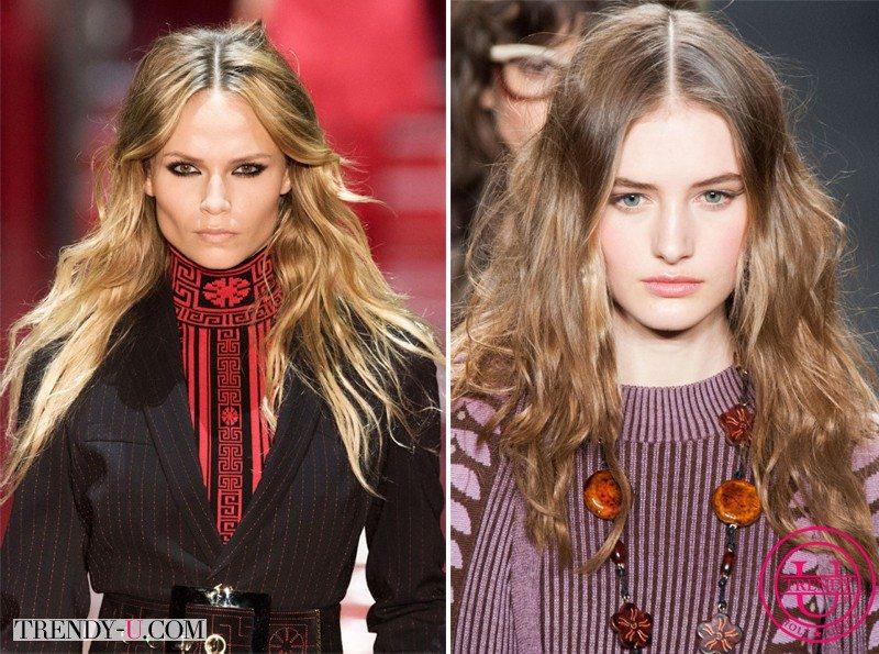 Модные осенью и зимой прически для длинных волос